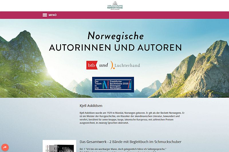 Website Norwegische Literatur 800